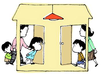 アグネスの教育アドバイス「ステップファミリーの家族の絆、どう築く?」イラスト