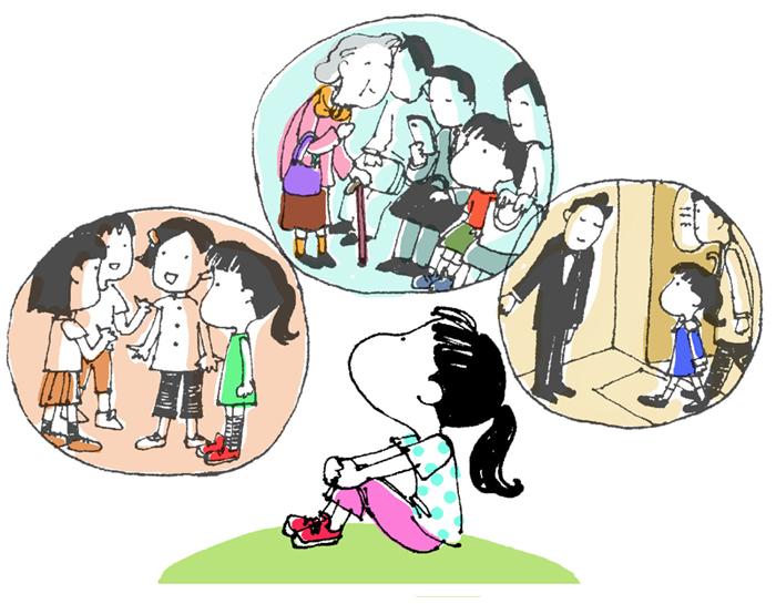 アグネスの教育アドバイス「「空気を読める子・読めない子、どうする?」イラスト
