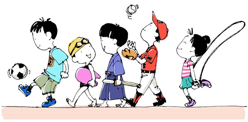 アグネスの教育アドバイス:子どもの運動神経を伸ばすには? イラスト
