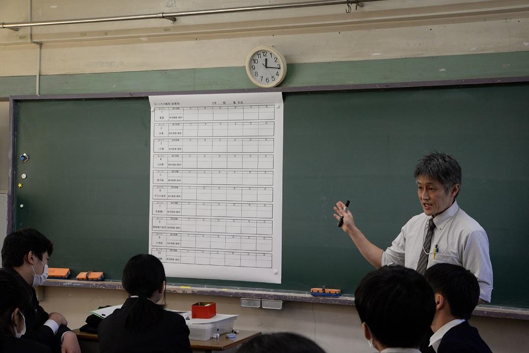 サイコロを振る体験を通して、統計的に問題を解決する力を育む授業(前編)