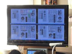複数の児童の画面を投影して比較検討