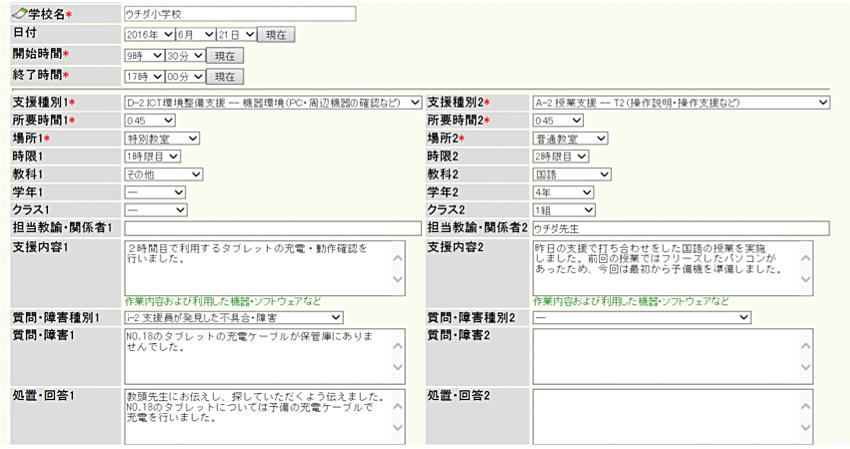 報告書の書式サンプル