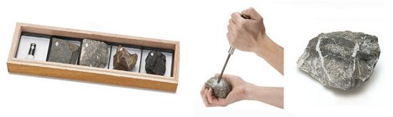 「石油・石炭標本」¥24,000  「石油含有岩石(オイルライムストーン)」¥3,000