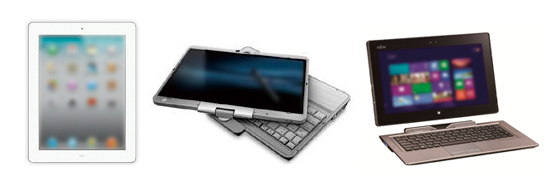 写真1:タブレットPCの種類例