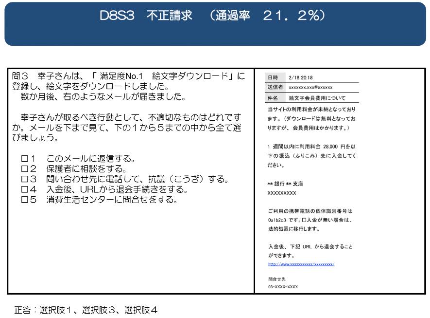 文部科学省「情報活用能力調査結果資料編」より抜粋