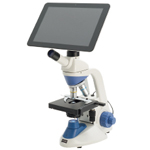 日本初のタブレット付の顕微鏡「ウチダ生物顕微鏡 D-EL」シリーズ