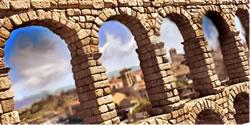 図9 ローマ時代の水道橋(スペイン)。