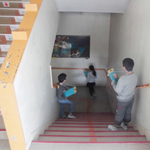 震災について、児童の意識を高める(リポート2)