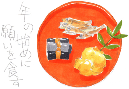 食育と授業:オリジナルおせち料理を考えよう イラスト