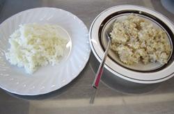 左:白米、右:玄米