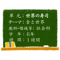 世界の寿司【食と世界】[小6・社会科]