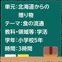 北海道からの贈り物【食の流通】[小5・学活]