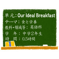 PROGRAM4 The Pillow~Our Ideal Breakfast~【食と栄養】[中2・英語]
