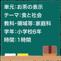 お茶の表示【食と社会】[小6・家庭科]