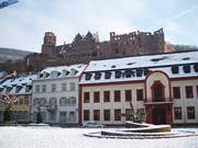 学生街をいつも見守る ハイデルベルク城