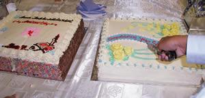 このケーキも保護者からの差し入れ