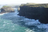 アイルランド 西部では、美しい大西洋からそそり立つ高い崖があちこちで見られ、春になるとこの緑の崖は色とりどりの花々で覆われる。西部地方は景勝地が多いため観光客が多く訪れる場所でもある。